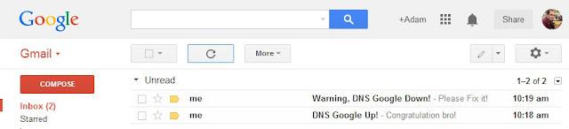 Contoh Monitoring Host / IP Dengan Notifikasi via Email