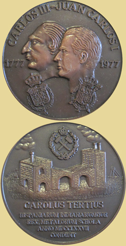Medalla del bicentenario de la Escuela de Minas de Madrid, 1977