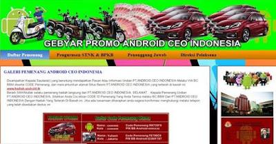 Hadiah PT Android CEO Indonesia adalah Penipuan Lewat BBM