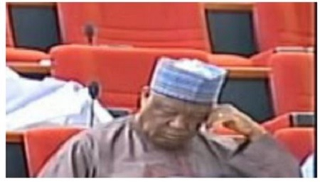 See Nigerian Senator Caught for the Third Time Sleeping in the Senate During Session (Photos)