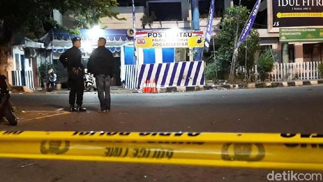 Ledakan B0m Bun*h Diri Guncang Pos Polisi Kartasura di Sukoharjo