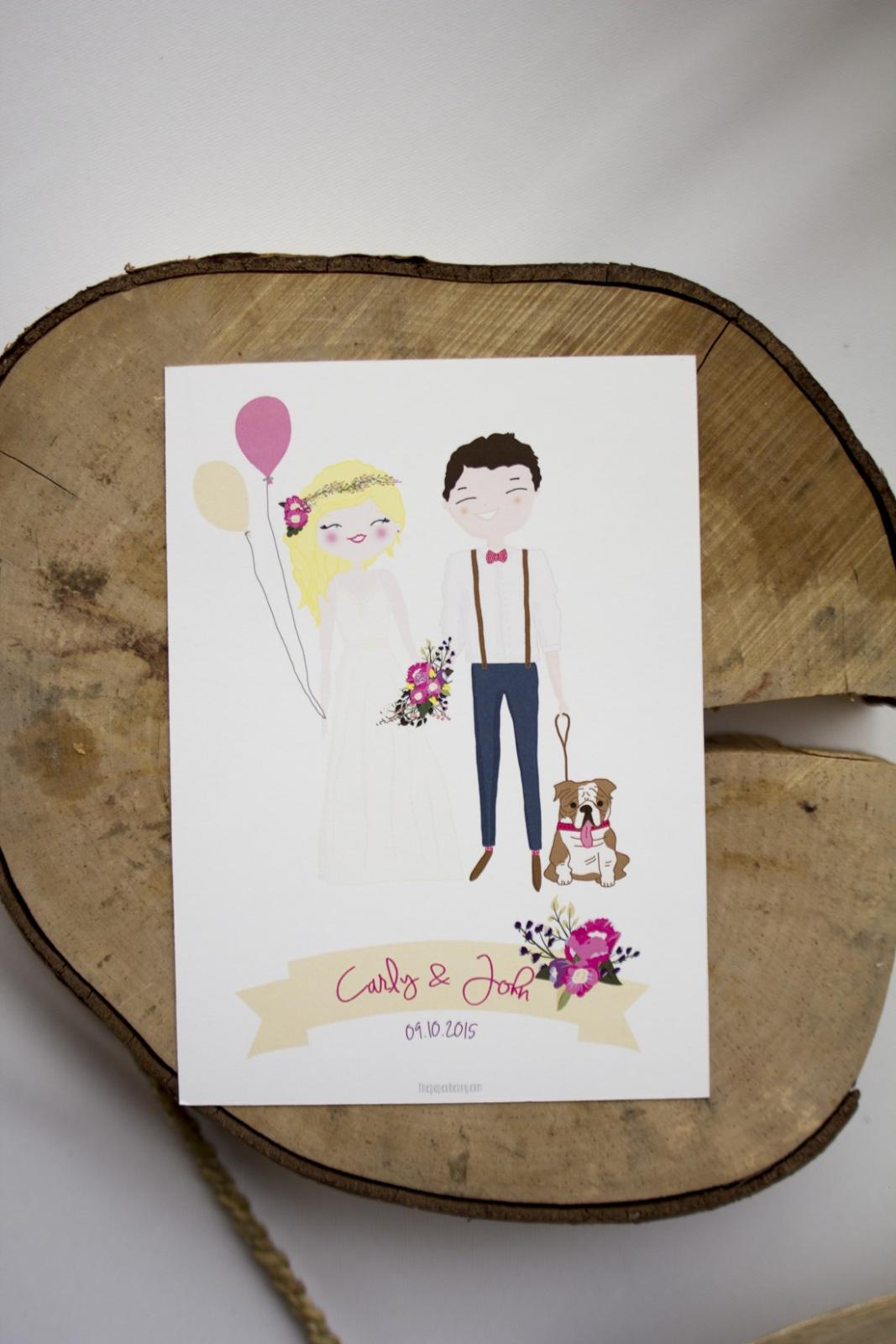 6863edd15c1c ▷Invitaciones de boda originales ilustradas - ▷ Blog de bodas ...