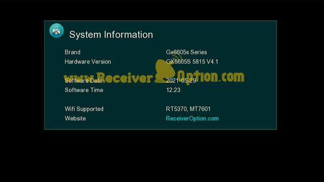 GX6605S 5815 V4.1 AUTO ROLL BISS KEY NEW SOFTWARE 29 MAY 2021