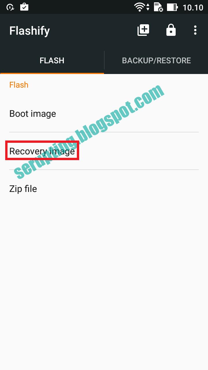 Memasang Twrp Recovery di Asus ZE500KL Tanpa PC | Serupting