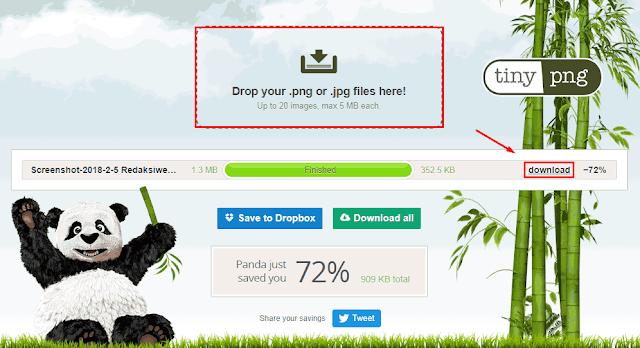 Dengan TinyPNG tanpa Menurangi Kualitas Gambar