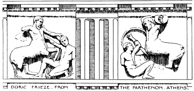 Doric Frieze From the Parthenon Athens