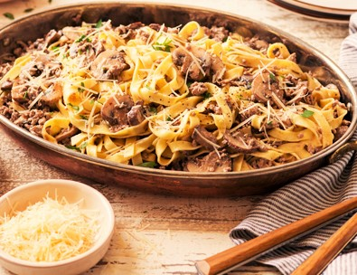 Here in the US, beef stroganoff is served mostly with egg noodles.  But it is also good with other pasta, especially fresh pasta, rice or potatoes.   Beef Stroganoff on a bed of mashed potatoes, yummy!