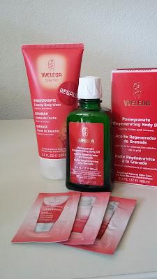 Productos de la línea de granada de Weleda