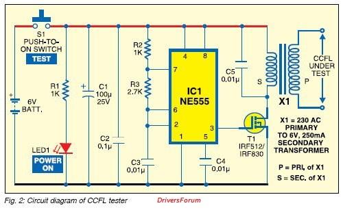 LED TV Backlight Driver Circuit Diagram