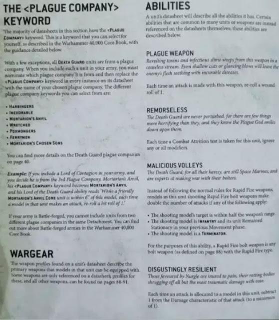 Filtraciones del Códex Guardia de la Muerte