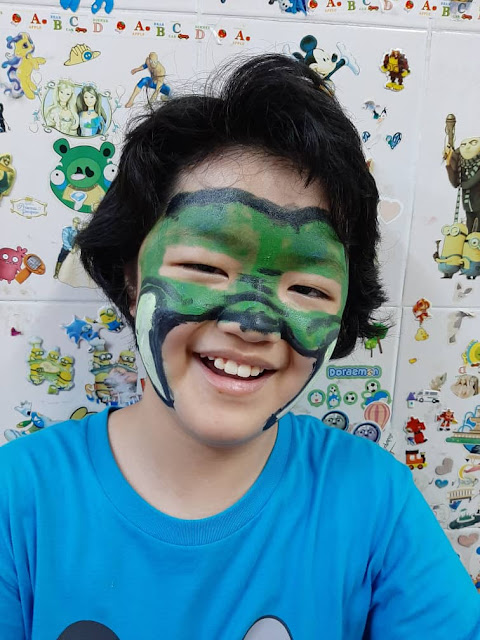 Have fun moment with face painting from https://www.snazaroo.com/uk/