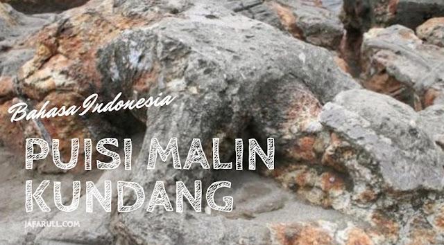kumpulan puisi malin kundang dari jafarull sebagai pemaparan bahasa indonesia