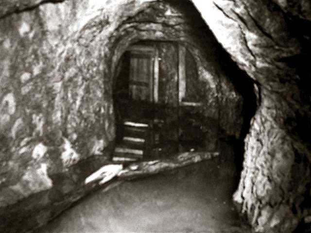 Here's a rare view of what the lower mine used to look like near the portal. Year taken and photographer are unknown.