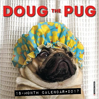2017 Doug The Pug Mini Wall Calendar PDF
