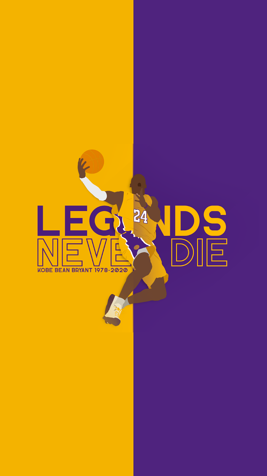 Legends never die - Kobe Bryant Wallpaper