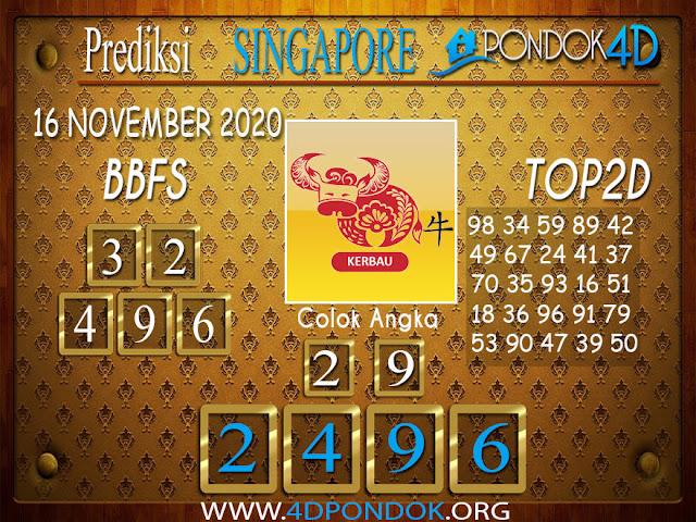 Prediksi Togel SINGAPORE PONDOK4D 16 NOVEMBER 2020
