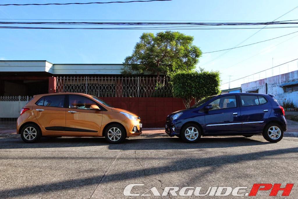 2014 Hyundai Grand i10 1.2 vs 2014 Toyota Wigo 1.0 G A/T ...
