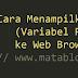 Cara Menampilkan Variabel PHP (Teks) ke Web Browser