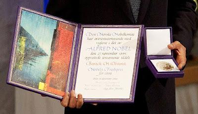 ノーネル賞のメダルと証書