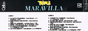 VINILOS & VINILOS: RIKY MARAVILLA - LA MARCA (1991) (CASSETTE)