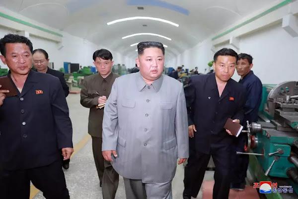 Kim Jong Un at Kanggye General Precision Machine Plant (KCNA June 1, 2019)