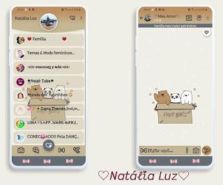 Teddy Bear & Panda Theme For YOWhatsApp & Fouad WhatsApp By Natalia Luz