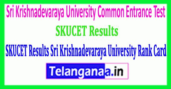 SKUCET Results Sri Krishnadevaraya University Rank Card  Download