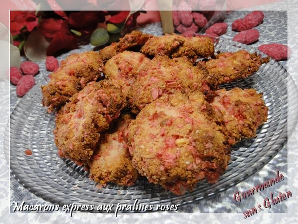 Macarons express aux pralines pour OCTOBRE ROSE (lutte contre le cancer du sein)