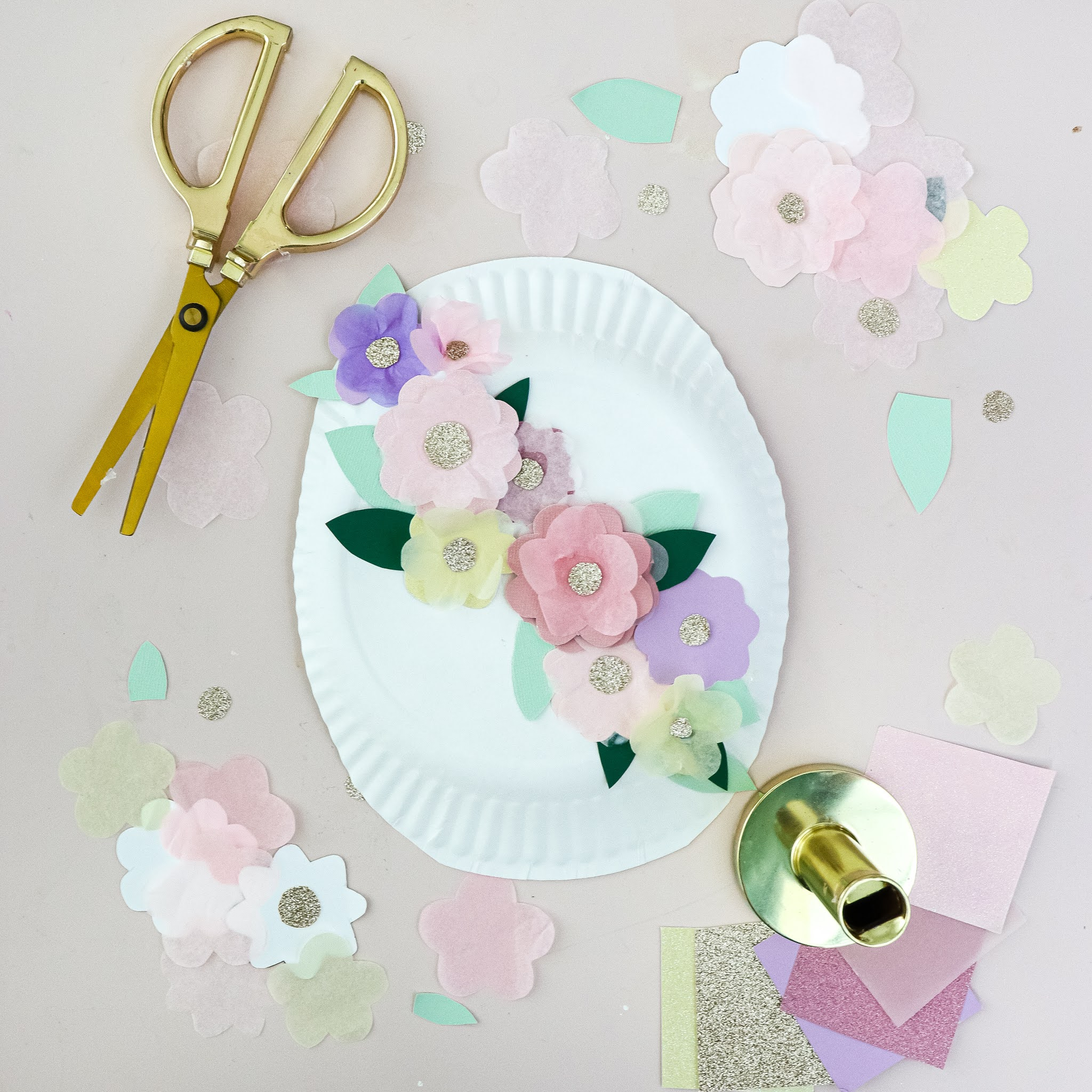 Easter Egg paper plate craft