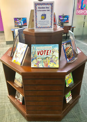 Election day book display for kids