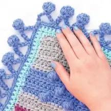 Puntilla Burbujas a Crochet