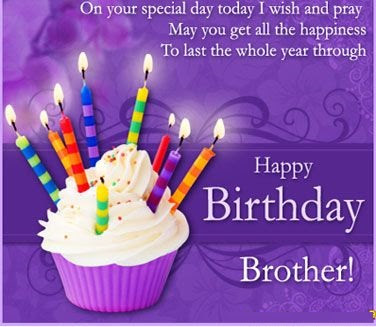 Happy Birthday wishes for brother: on your special day today i wish