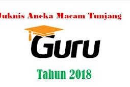 Juknis Aneka Macam Tunjangan Guru Tahun 2018