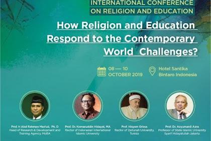 Kemenag Akan Gelar International Conference on Religion and Education Oktober Mendatang