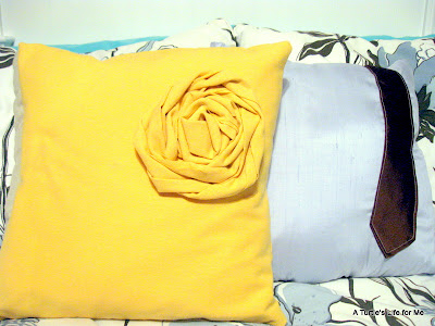 rosette and tie pillow tutorial