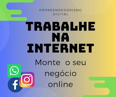 Trabalhe em casa na internet