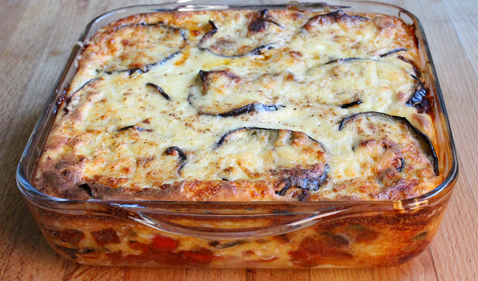 Vegetable Moussaka from the oven