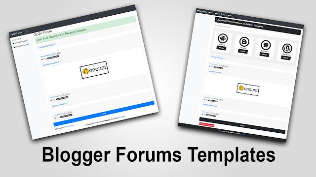 Blogger forums templates
