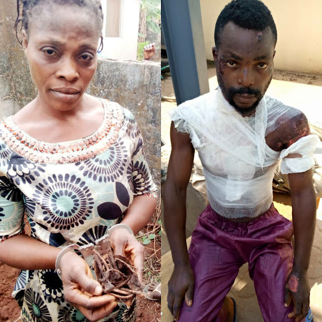 Woman Who Killed And Secretly Buried Her Own Baby,has been arrested for Pouring Hot Water On her Husband In Ogun state (Pictures)