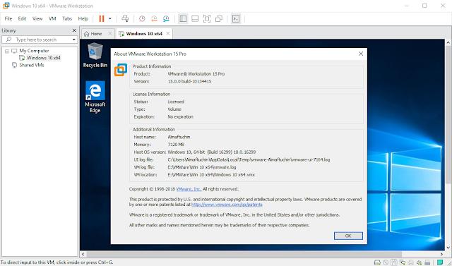 Original License VMWare Workstation 15 Pro For 3 PC Lifetime