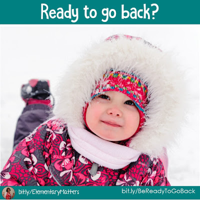 Are you ready to go back? Christmas vacation is over, so I'm here to help that transition back a little easier!