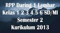 rpp daring kelas 1 2 3 4 5 6 semester 2