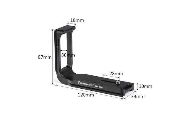 Sunwayfoto PNL-D850 L bracket dimensions