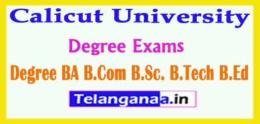 Calicut University Degree Exams Results