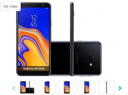 Smartphone Samsung Galaxy J4 Core 16GB Preto 4G