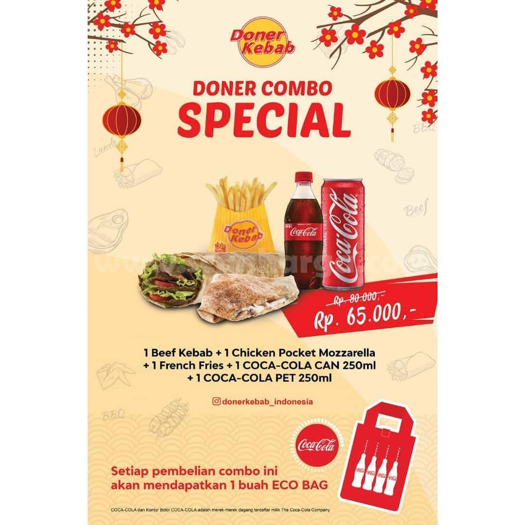 Promo DONER KEBAB COMBO SPESIAL! GRATIS Eco Bag Coca Cola