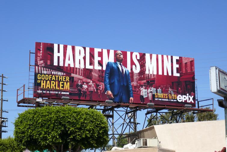 Godfather of Harlem series premiere billboard