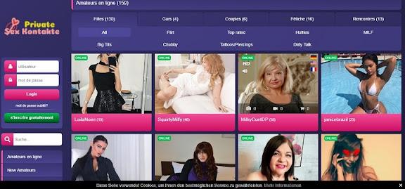 privat sex kontaktDas wohl bekannteste Sexportal im Internet was früher eigentlich nur für Amateure verfügbar war, ist Private Sex Kontakte. Wer hier also auf der Suche nach ONS, Cybersex, Affäre oder sogar ein Porno Drehpartner werden will, der kann hier alles erleben. Das Beste an der Seite ist, du hast kein Abo und keine versteckten Kosten. Bei den meisten großen Portalen muss man gleich ein Jahresabo abschließen, für mehrere hundert Euro was hier nicht der Fall ist. Ich habe selber das Sexportal mal getestet, um zu schauen was ich hier so finde. Als ich meine Mail bestätigt habe konnte ich mein Alter verifizieren oder durch mein Personalausweis oder durch meine Bankdaten. Dann hab ich gleich dazu 30 Euro aufgeladen, jetzt konnte ich also richtig durchstarten. Was mich gleich am Anfang etwas erschreckt hat, wo ich schon dachte das kann doch nicht richtig sein, war. Das mir auf einmal sehr viele Damen geschrieben haben, ihre Fotos geschickt haben oder mit mir auch ausgehen wollten. Als erstes dachte ich, das kann doch nicht sein das sind doch alle Fakes bestimmt! Aber bei den meisten konnte ich sehen das sie eine Echtheitsprüfung haben auf ihren Profil. Das kann aber immer noch ein Fake sein denke ich, aber die Damen haben mich auch in ihre Livecam eingeladen und somit, konnte ich sehen das es hier 100% private Damen sind die zu Hause am Laptop sitzen oder gerade in der Badewanne und die auch sehr nett waren. Einige wollten mir auch etwas mehr zeigen vor der Kamera aber ich war doch nur hier um die Seite zu testen, daher habe ich mich nett bedankt und gefragt ob wir noch etwas chatten könnten wenn sie fertig mit ihrer Show waren.
