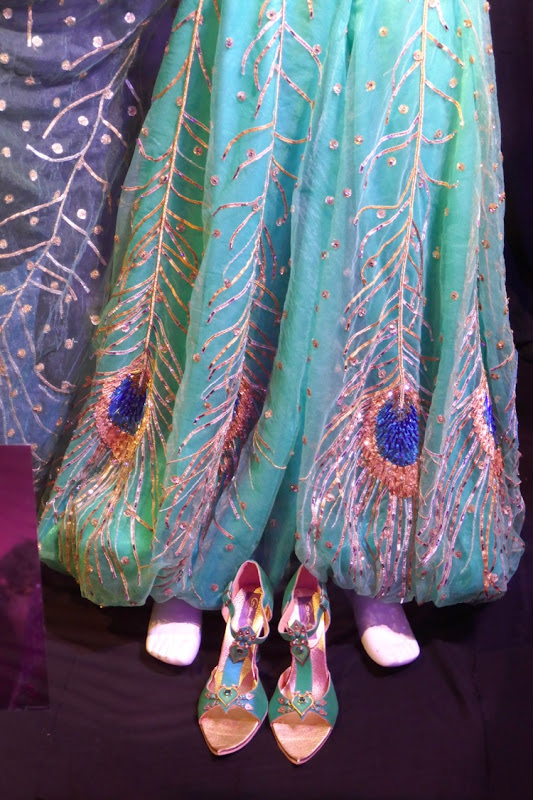 Princess Jasmine peacock costume detail Aladdin