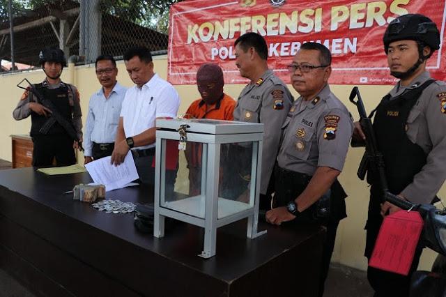 Pura-pura Sholat, Pria Warga Banjarnegara Nyolong Kotak Amal di Kebumen